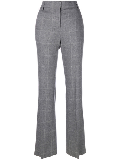 DONDUP women spandex cotton wool grey pants