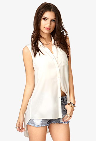 Sleeveless Chiffon Shirt | FOREVER21 - 2038570931