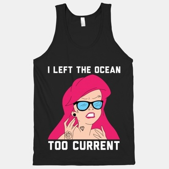 ariel ariel the little mermaid tank top black sway
