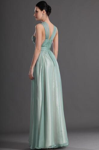 dress prom dress long bridesmaid dress mint dress long straps bridesmaid
