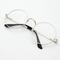 Transparent circle round metallic frame korean clear potter glasses