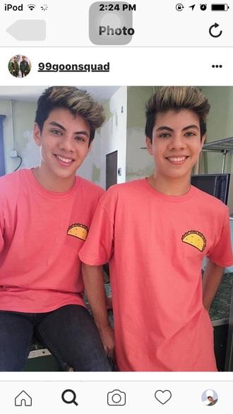 t-shirt taco shirt baby pink food