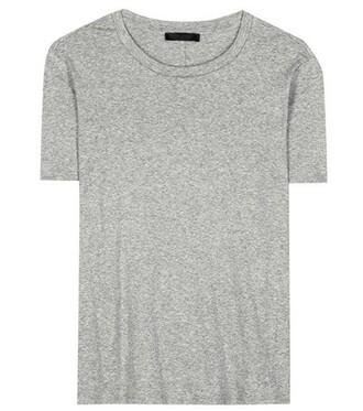t-shirt shirt cotton t-shirt cotton grey top