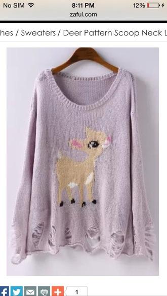 sweater deer