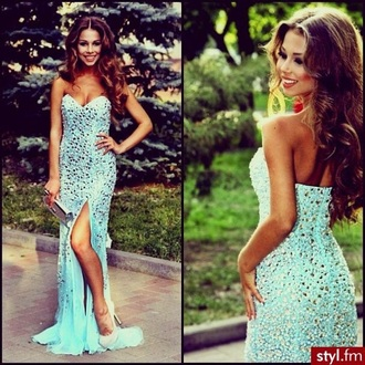 dress prom dress prom blue dress blue beaded beading beaded ball gowns beaded dress beaded long dress beading prom dress sparkly dress sparkle sparkly prom dress crystal crystal prom dress strapless dress bodycon dress