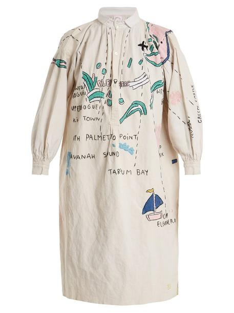 KILOMETRE PARIS shirtdress embroidered dress