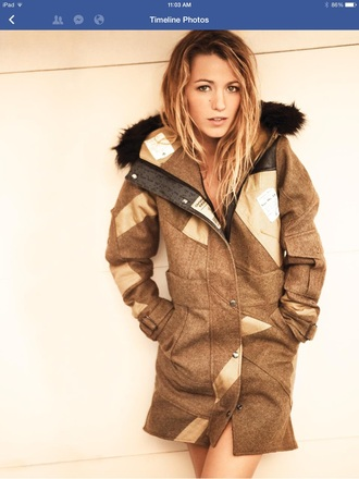 plaid coat blake lively parka