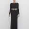 Aphrodite maxi slit dress in black at flyjane