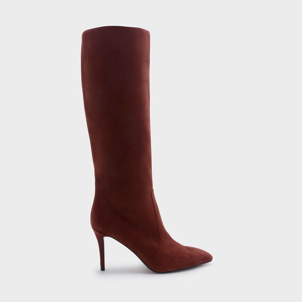 high knee high booties shoes