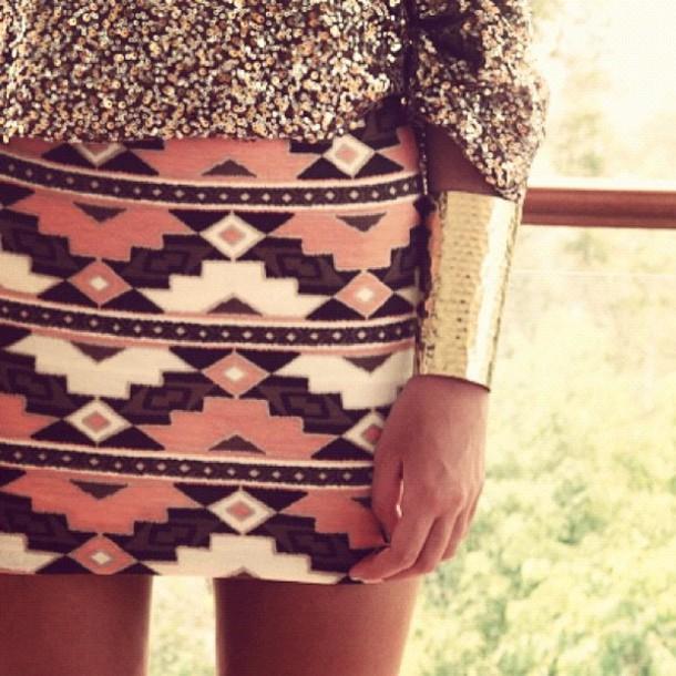 skirt aztec aztec shirt