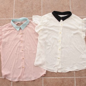 Pastel Heart Cut Blouse | SYNDROME [Korea & Japan Style] | Online Store Powered by Storenvy