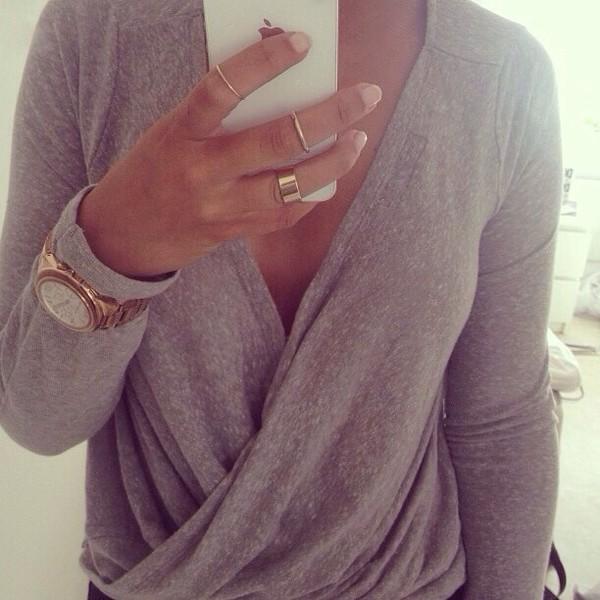 sweater grey cardigan jewels