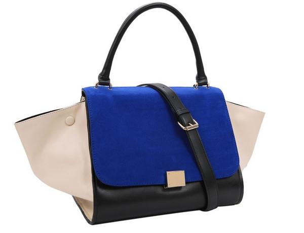 Trapeze tote bag ( blue) – glamzelle