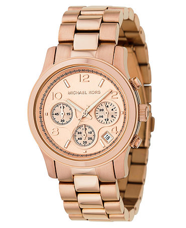 Michael Kors Watch, Women's Runway Rose Gold Plated Stainless Steel Bracelet 38mm MK5128 - Watches - Jewelry & Watches - Macy's