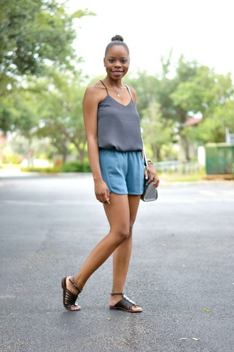 cha cha the fashion genius blogger tank top shorts shoes bag jewels