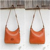 bag,dooney and bourke shoulder bag,authentic dooney and bourke,brown leaher bag,dooney and bourke purse,dooney & bourke,vintage