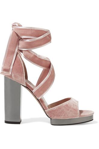 pastel sandals velvet sandals velvet pink pastel pink shoes