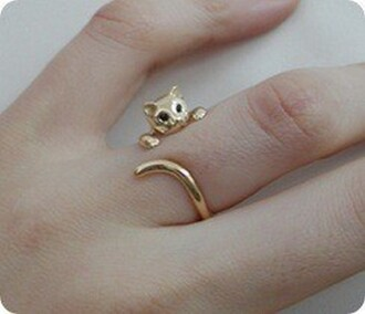 gold ring cat ring wrap cat bag jewels ring jewerly cats animal gold jewelry cute catring kitten ring sweet cat eye knuckle ring