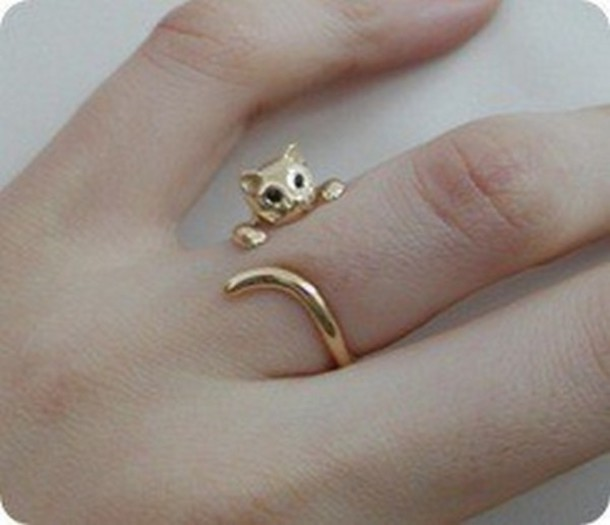 gold ring cat ring wrap cat bag jewels ring jewerly cats cats animal gold jewelry cute gold catring cats kitten ring sweet cat eye knuckle ring