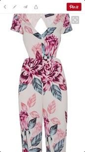 jumpsuit,kendall and kylie jenner,floral,open back