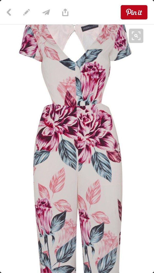 jumpsuit kendall and kylie jenner floral open back