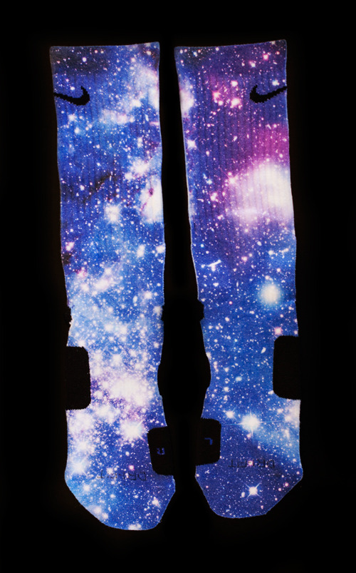 """Moon Man"" Galaxy Elites Custom Nike Elite Socks Large 