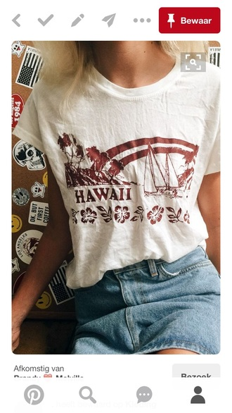 top california hawaiian brandy melville summer vintage t-shirt