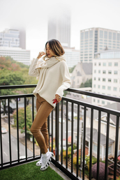 sweater,knitwear,knitted sweater,jamie chung,blogger,blogger style,fall outfits