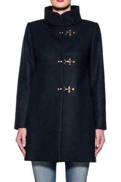 FAY coat wool coat blue wool
