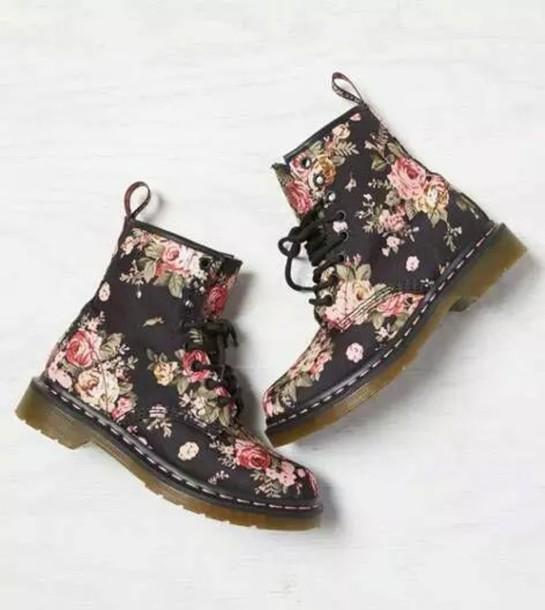 shoes black flowers