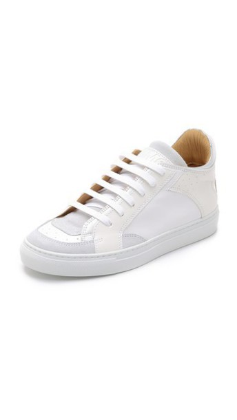 sneakers low top sneakers silver white shoes