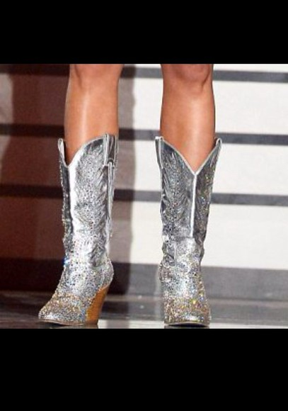 texas country shoes silver cowboy boots miranda lambert rhinestones country style glitter glitter shoes festival carrie underwood sequins cowgirl redneck sliver boots