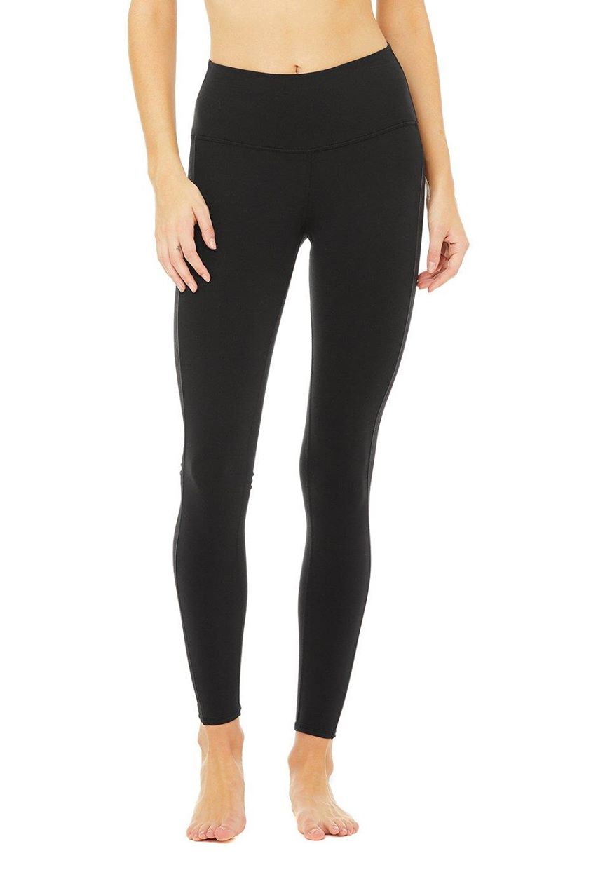 High-Waist Line-Up Legging - Black