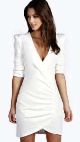 dress white wrap wrap-around dress