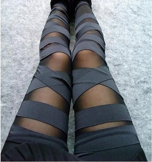 2014 summer new arrival fashion women leggings stretch bandage style Mesh Legging lace girl -in Leggings from Apparel & Accessories on Aliexpress.com