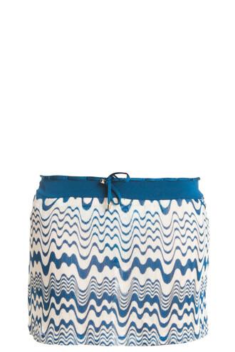 skirt short skirt knit short blue