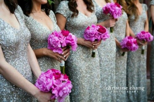 dress silver sequin dress sequins bridesmaid