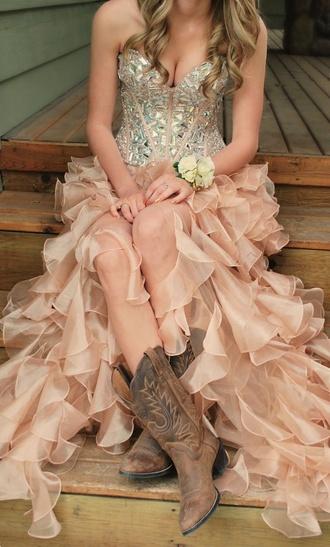prom dress dress rhinestones hi low dresses country dress ruffle swimsuit