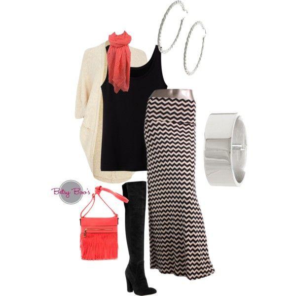 chevron maxi skirt skirt betsy boo's boutique