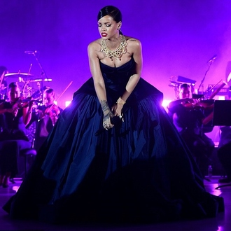 dress jewels necklace rihanna ball gown dress gown