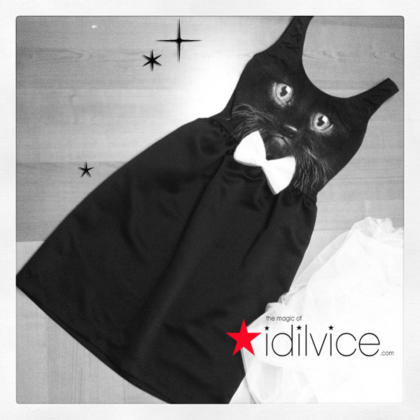 dress cats cats black cat cocktail dress black dress bow tie black tie satin party dress party dress little black dress cute dress lovely this fashion is mine