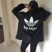 coat,adidas,adidas jacket,badass,adidas jackets sweatsuit,b&w,baddies,adidas sweater,adidas varsity jacket,adidas originals,jacket,black jacket