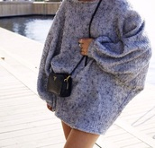 oversized,grey sweater,black friday cyber monday,bag,texture,dress,sweater,crossbody bag,grey,black