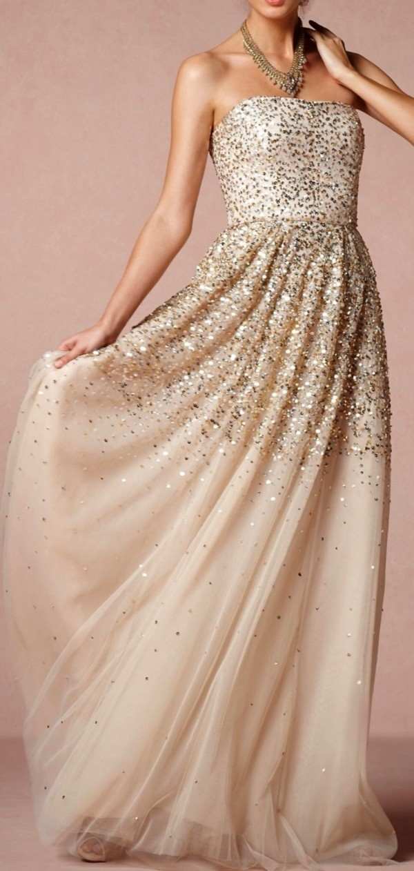 dress glitter dress gold gold sequins long prom dress