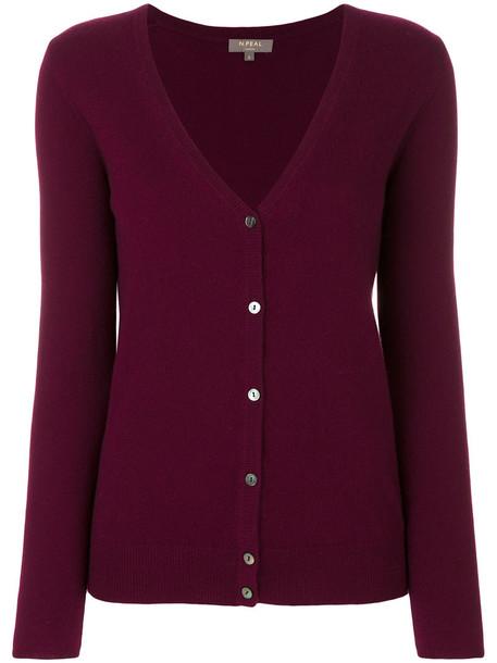 N.Peal cardigan cardigan women v neck red sweater