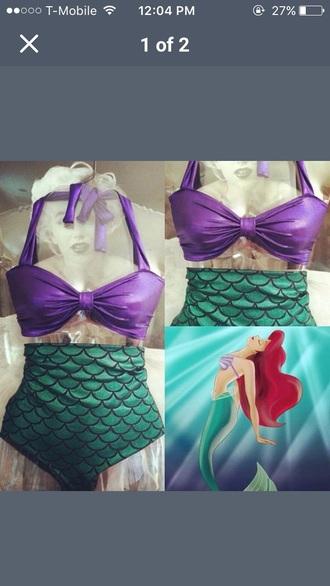 swimwear the little mermaid green disney bikini disney princess