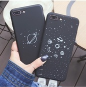phone cover,black,iphone cover,iphone,stars,galaxy print,iphone 7 case