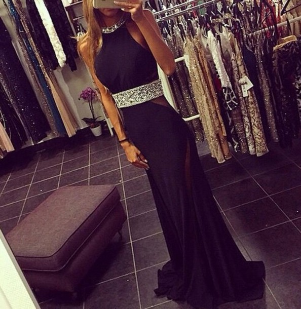 dress blacl dress long dress silver dress black dress prom dress classy dress same as the picture
