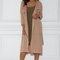Dulce duster trench coat - nude