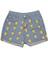 Light blue high waist simpson print denim shorts